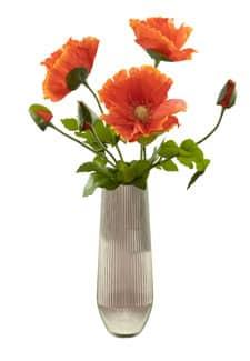Mohnblumen künstlich orange 78 cm