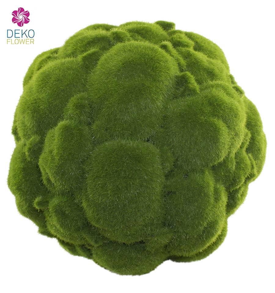 Mooskugel künstlich 21 cm grün