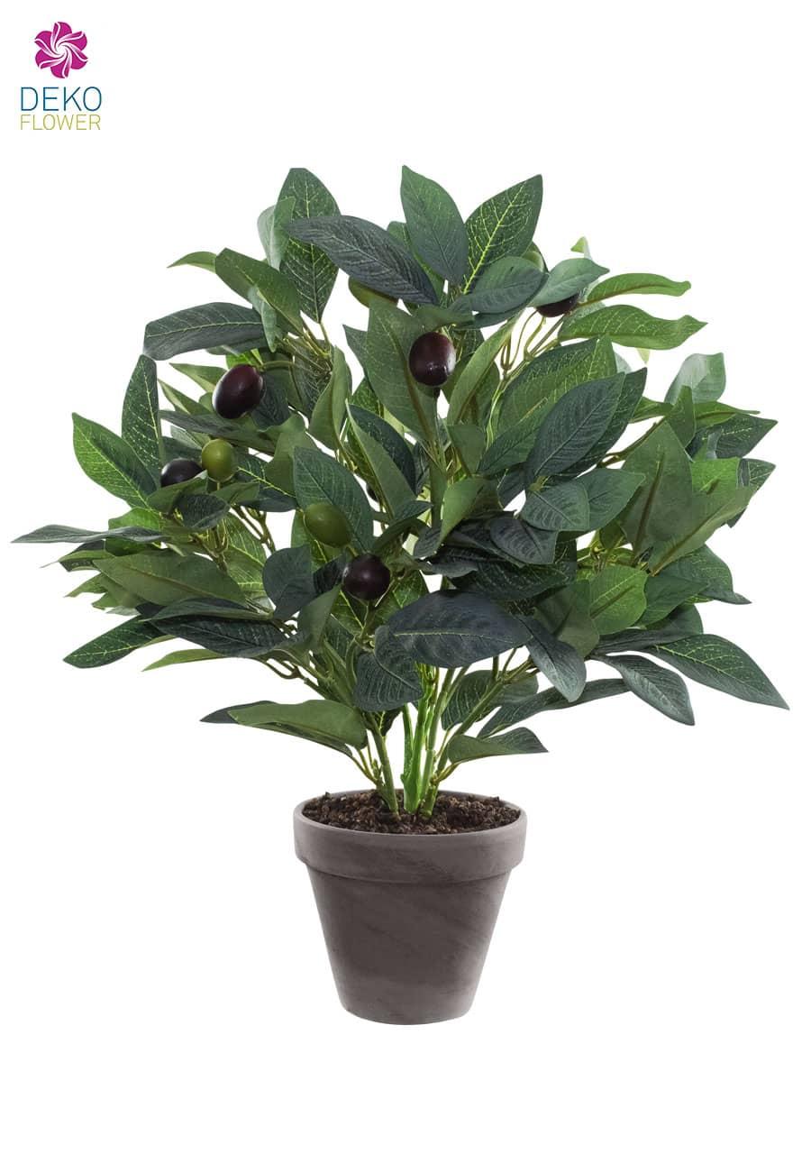 Olivenstrauch Kunstpflanze im Tonkübel 40 cm