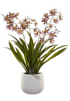 Oncidium Künstliche Orchidee in Kugeltopf 64 cm
