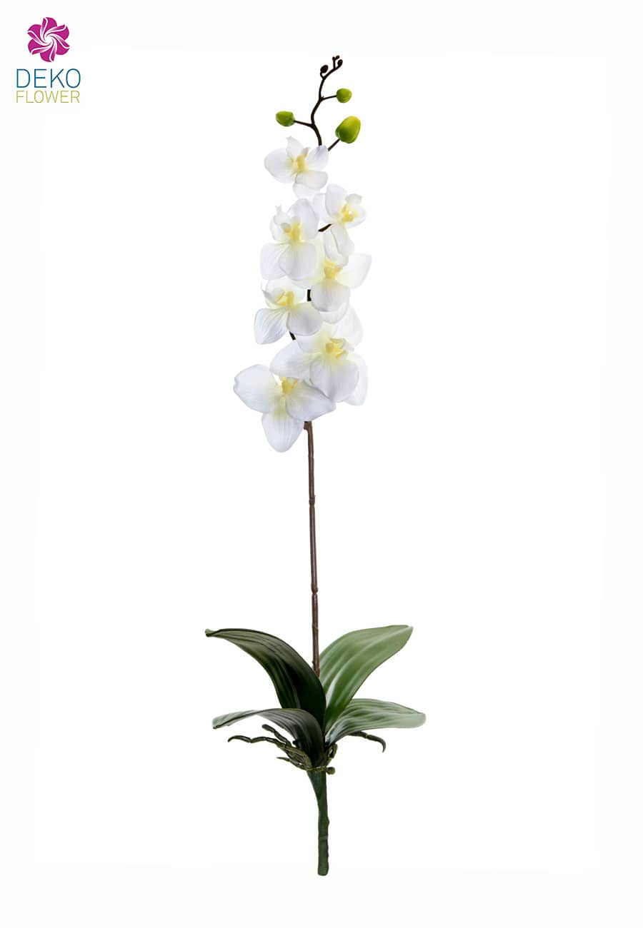 Künstliche Orchidee weiß ohne Topf 80 cm