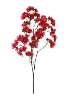 Künstlicher Pfirsichblütenzweig pink-rot 72cm