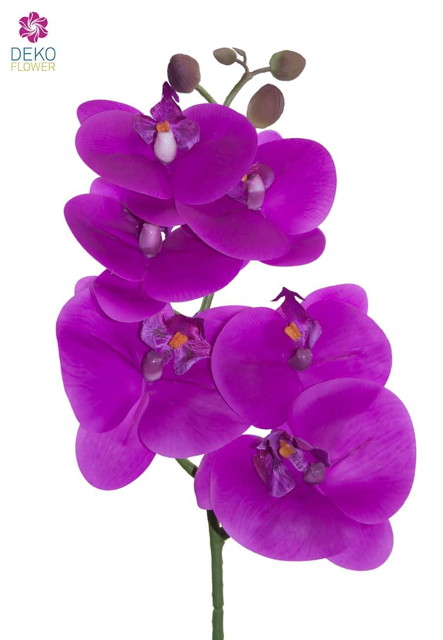 Künstlicher Phalaenopsis Orchideenzweig magenta 60 cm