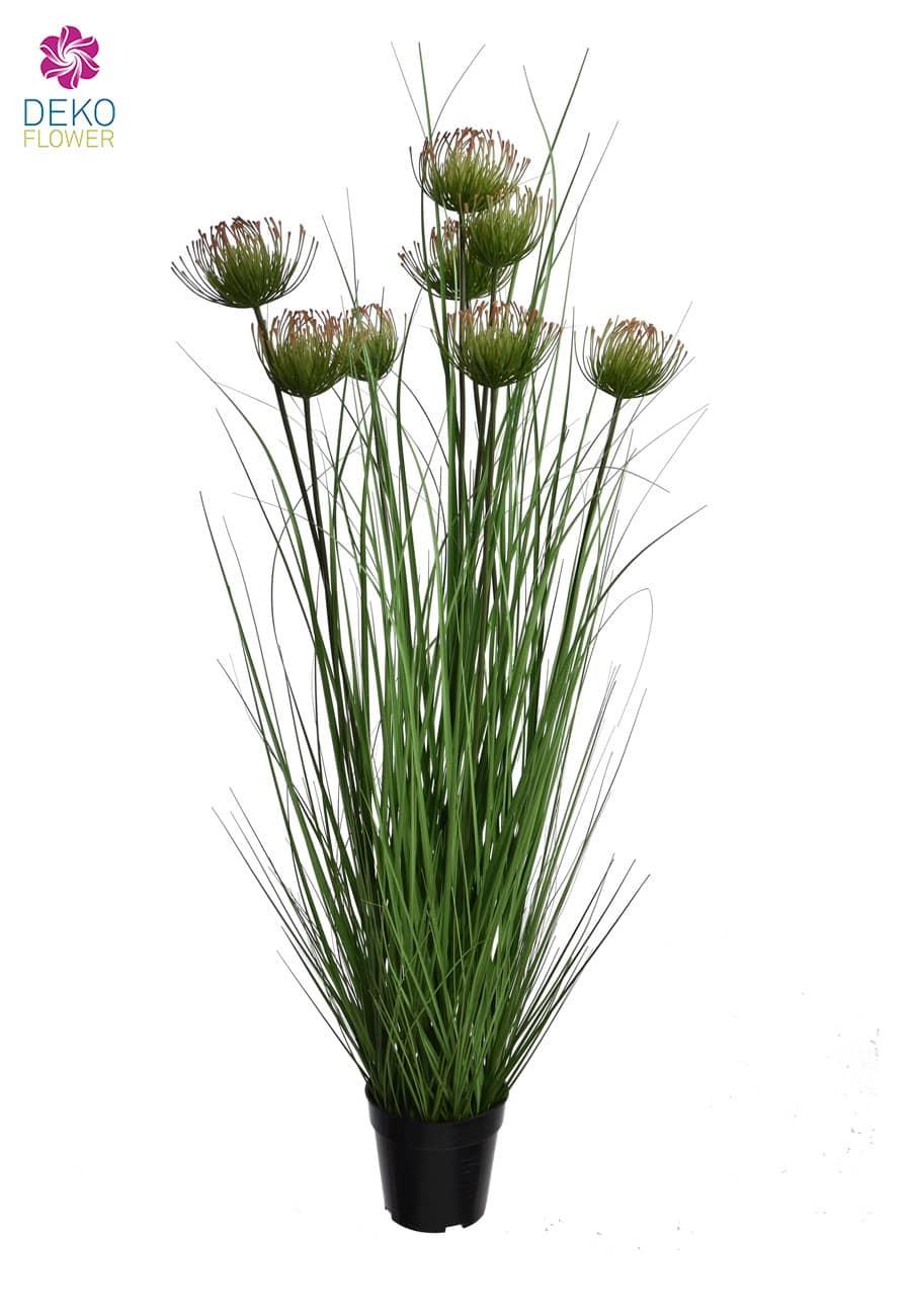 Protea Kunstgras im Topf 120 cm grün