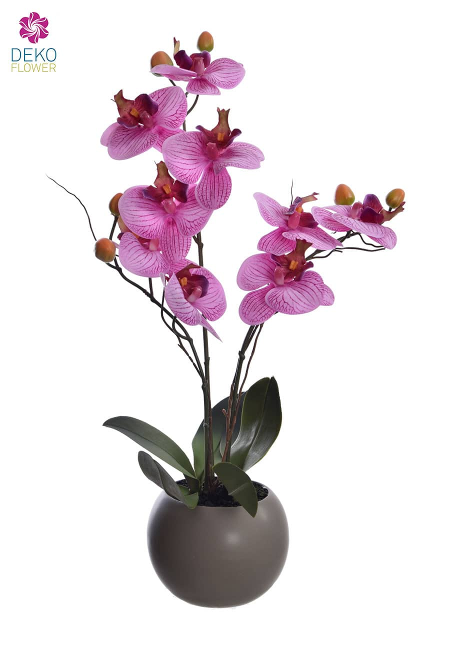 Real Touch Orchidee pink im Kugeltopf 50 cm