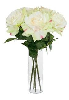 Künstliche Rose Caprice zart-grün 49 cm 5er-Pack