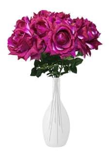Künstliche Rose Luxor pink 70 cm 10er-Pack