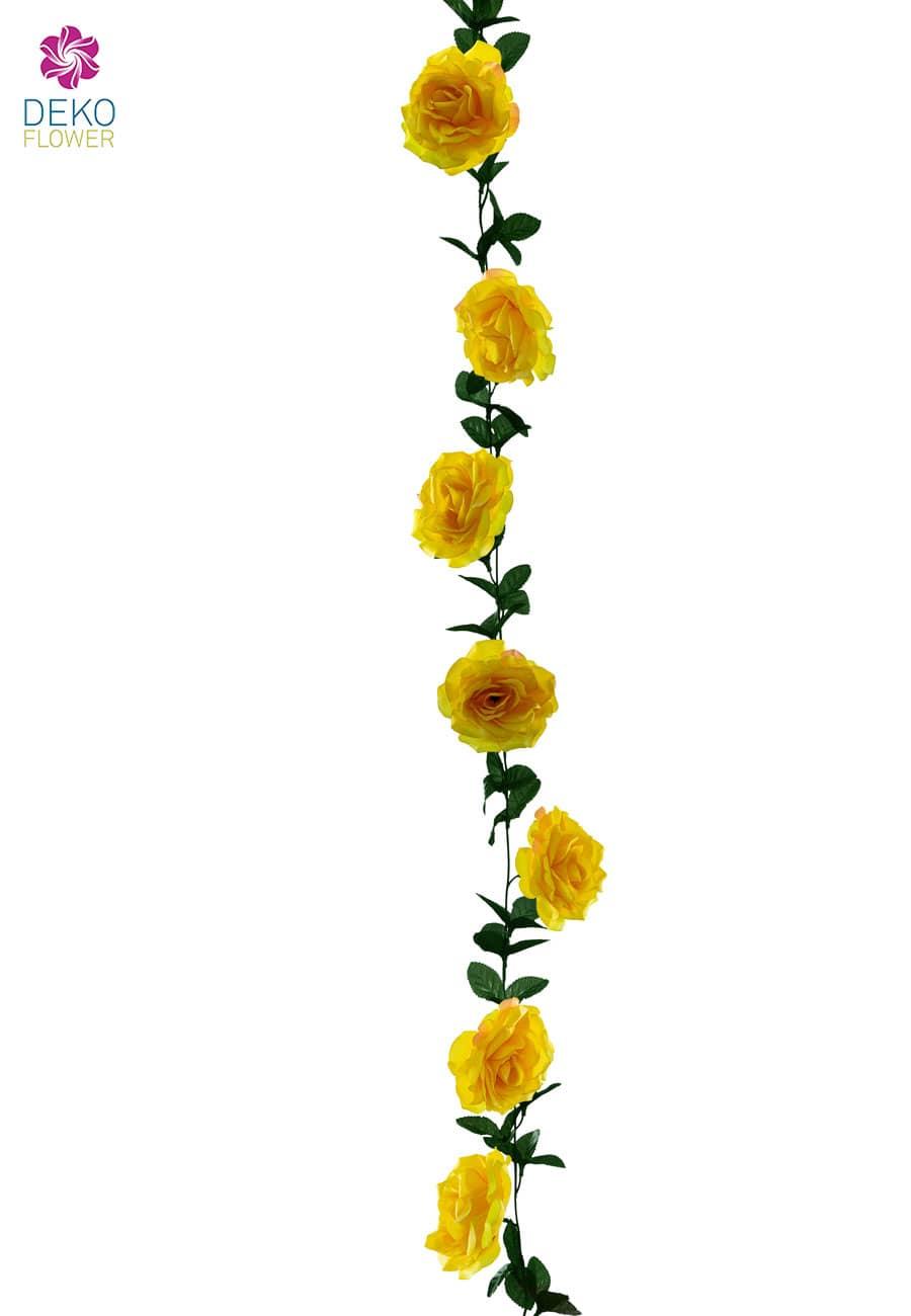 Rosen Blumenranke gelb 180 cm