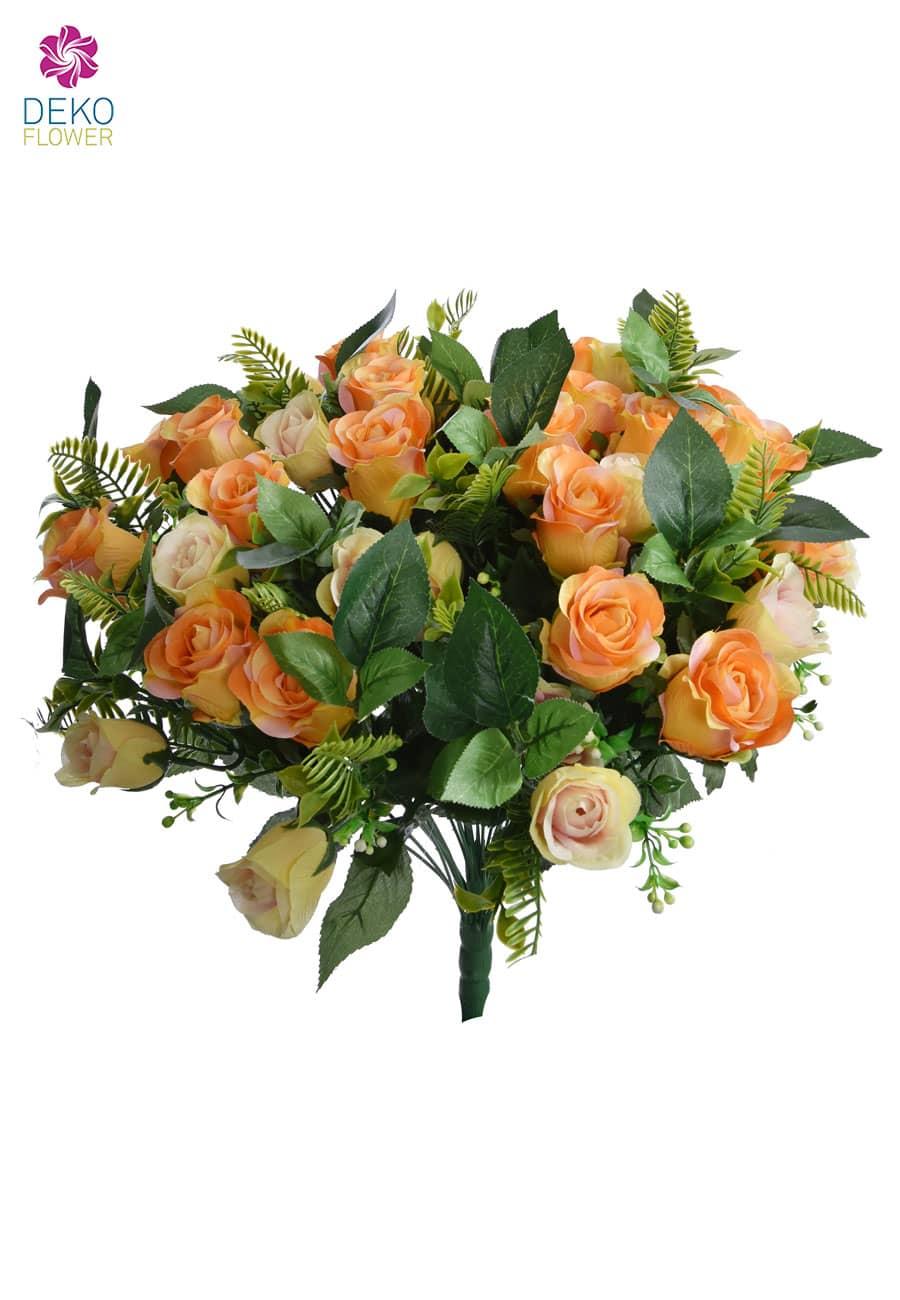 Rosenstrauß apricot 50 cm