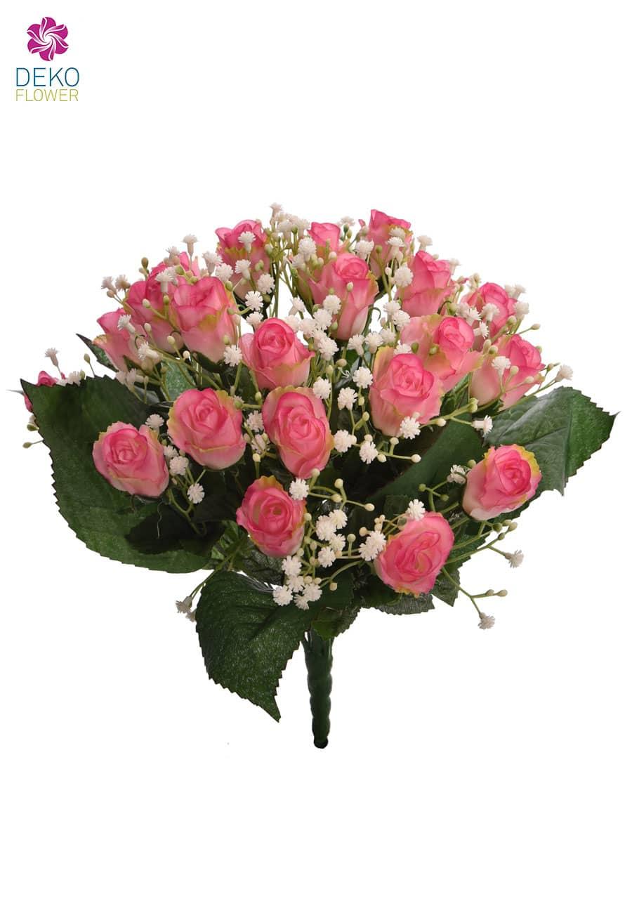 Rosenstrauß rosa Knospen 36 cm