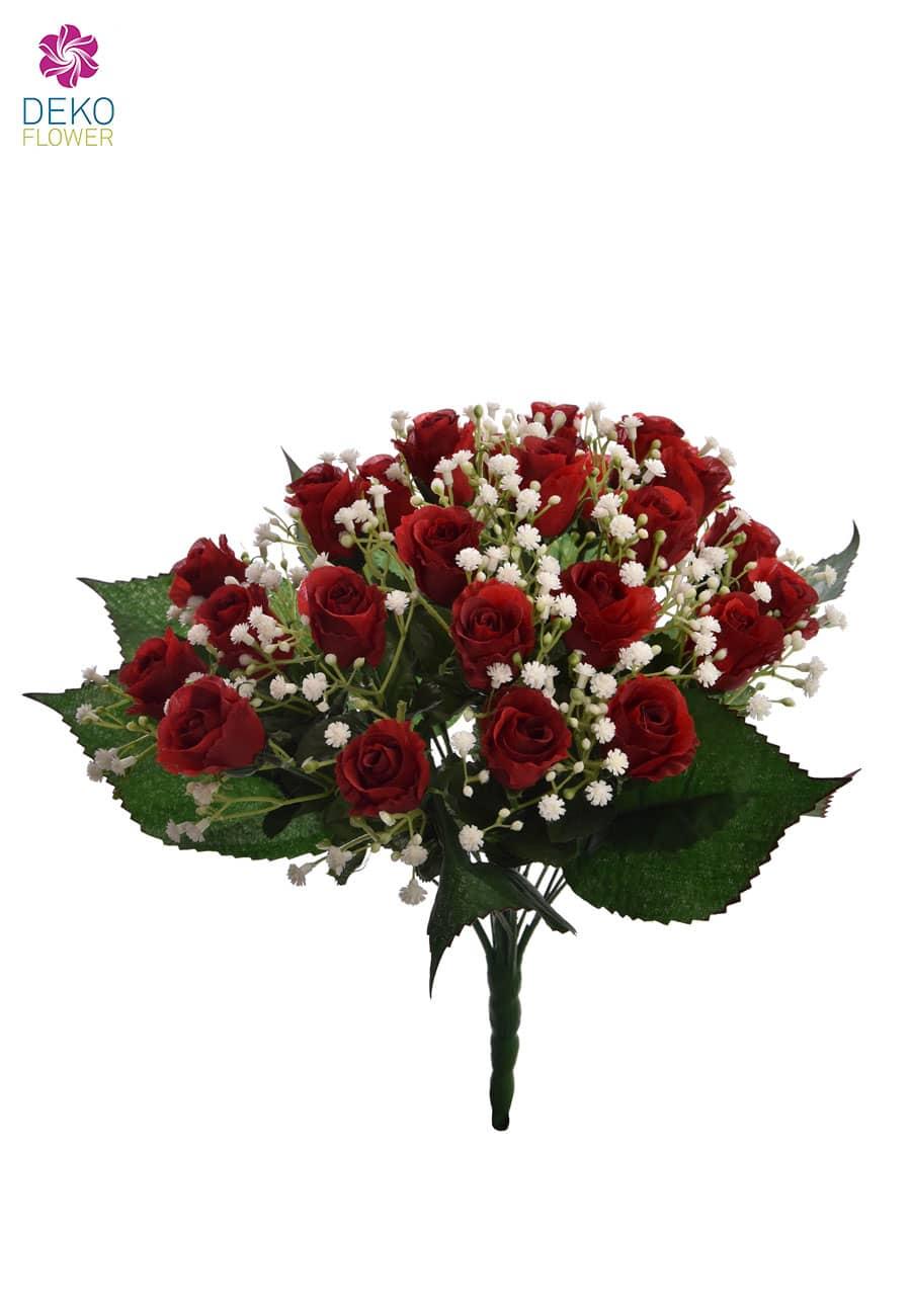 Roter Rosenstrauß 36 Cm