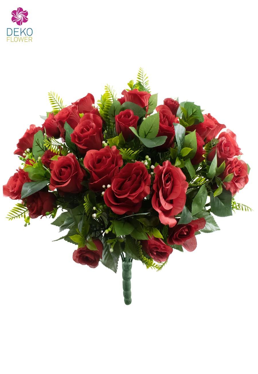 Roter Rosenstrauß 50 cm