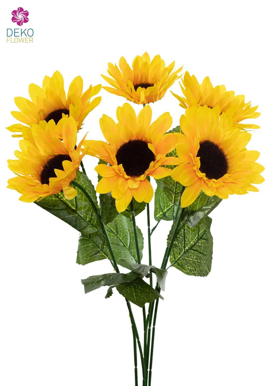 Sonnenblumen Kunstblumen 67 cm 6er Pack