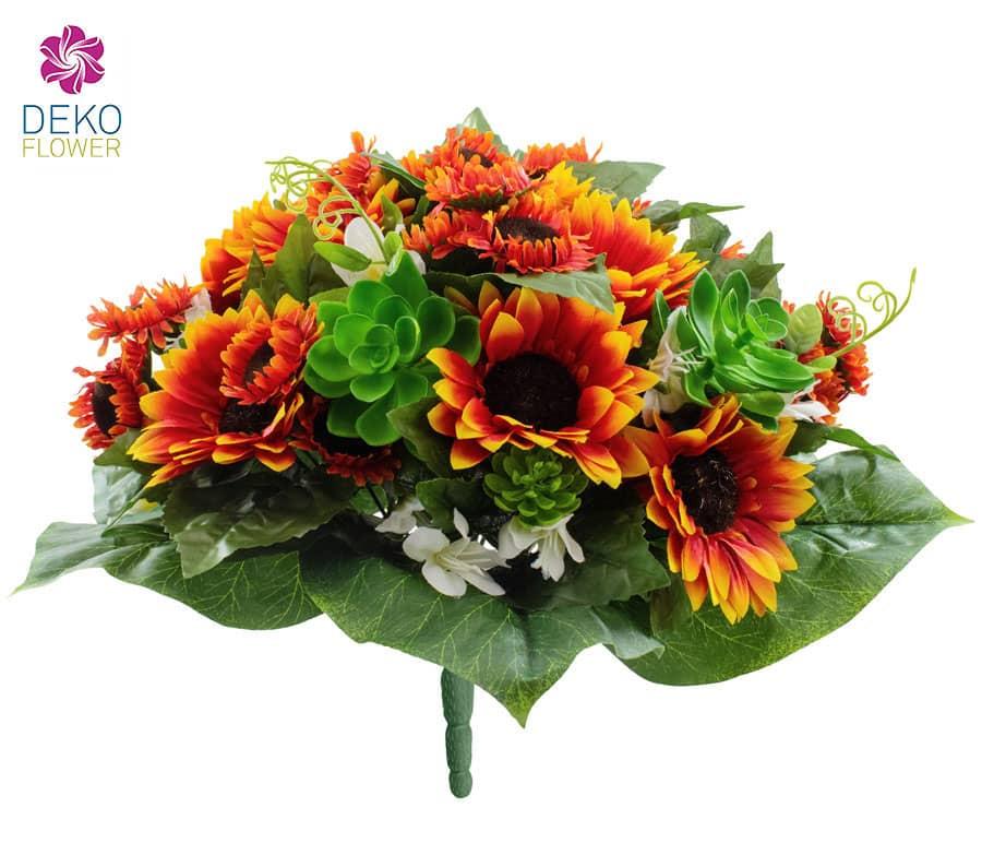 Sonnenblumen Strauß orangebraun 32 cm