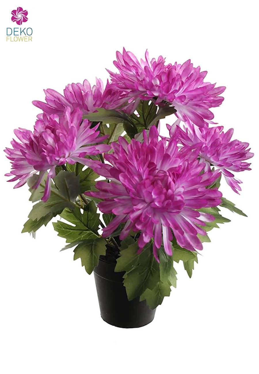 Spinnen Chrysanthemen Kunstpflanze 31 cm lavendel