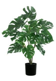 Split Philo Kunstpflanze grün im Topf 67 cm