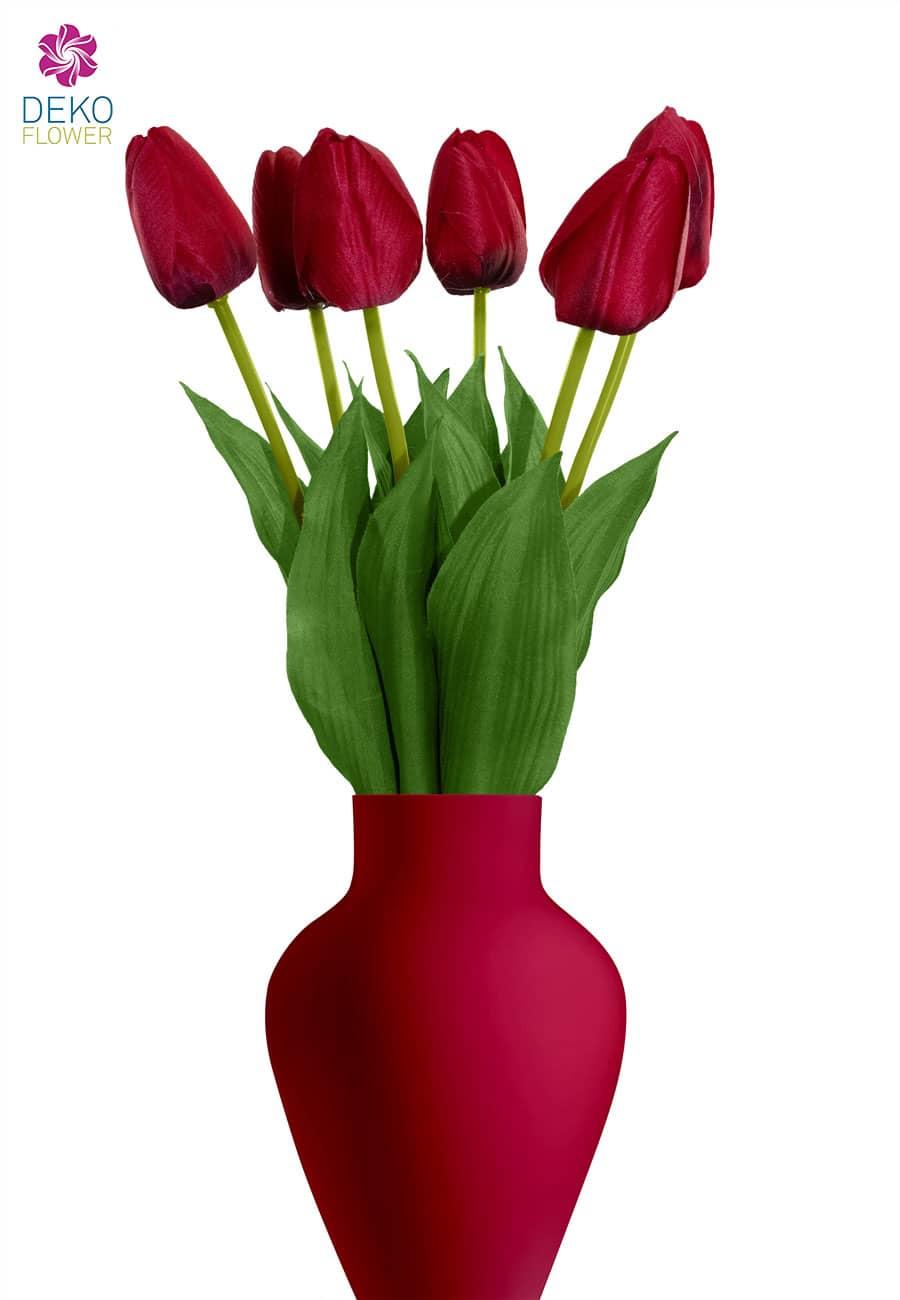 Tulpen Kunstblumen rot 55 cm, 6er-Pack