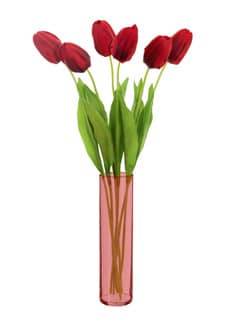 Künstliche Tulpen rot 49 cm, 6er-Pack