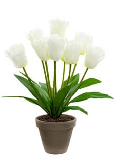 Tulpen Kunstblumen weiß 40 cm