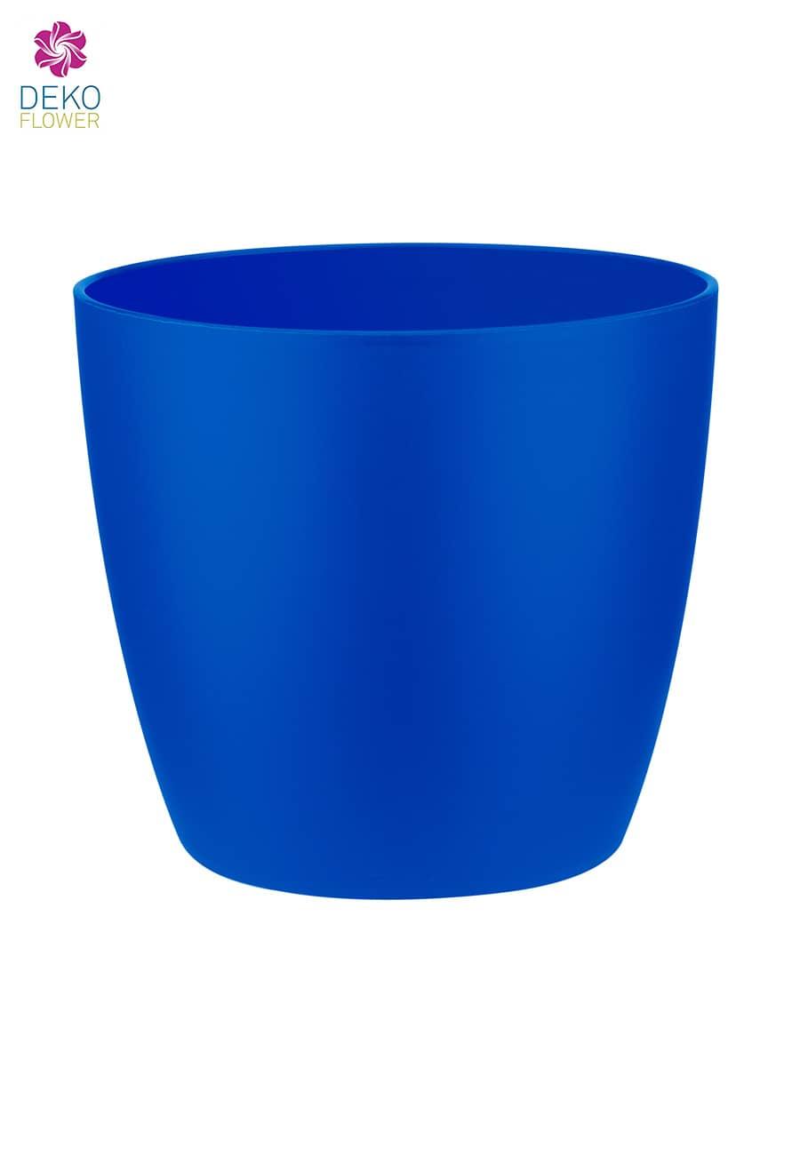 Übertopf brussels rund blau 12.5 cm