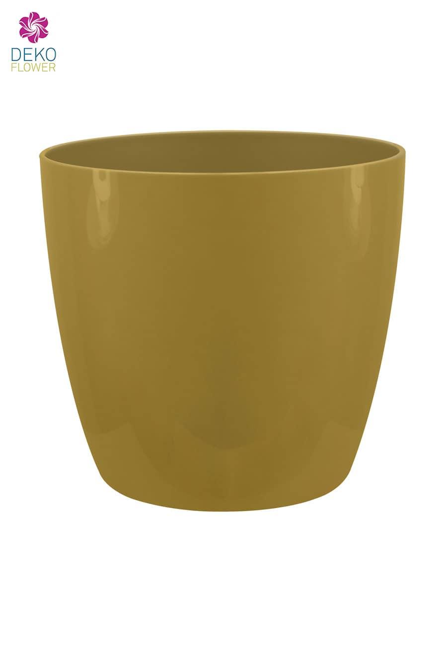 Übertopf brussels rund schimmerndes gold 14 cm