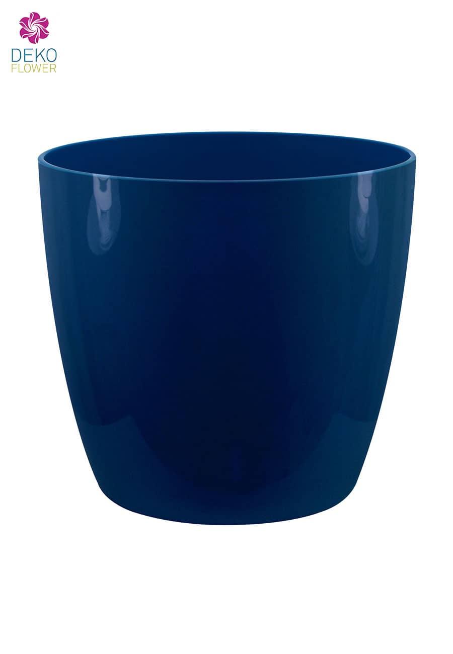 Übertopf brussels rund schimmerndes mitternachtsblau 14cm