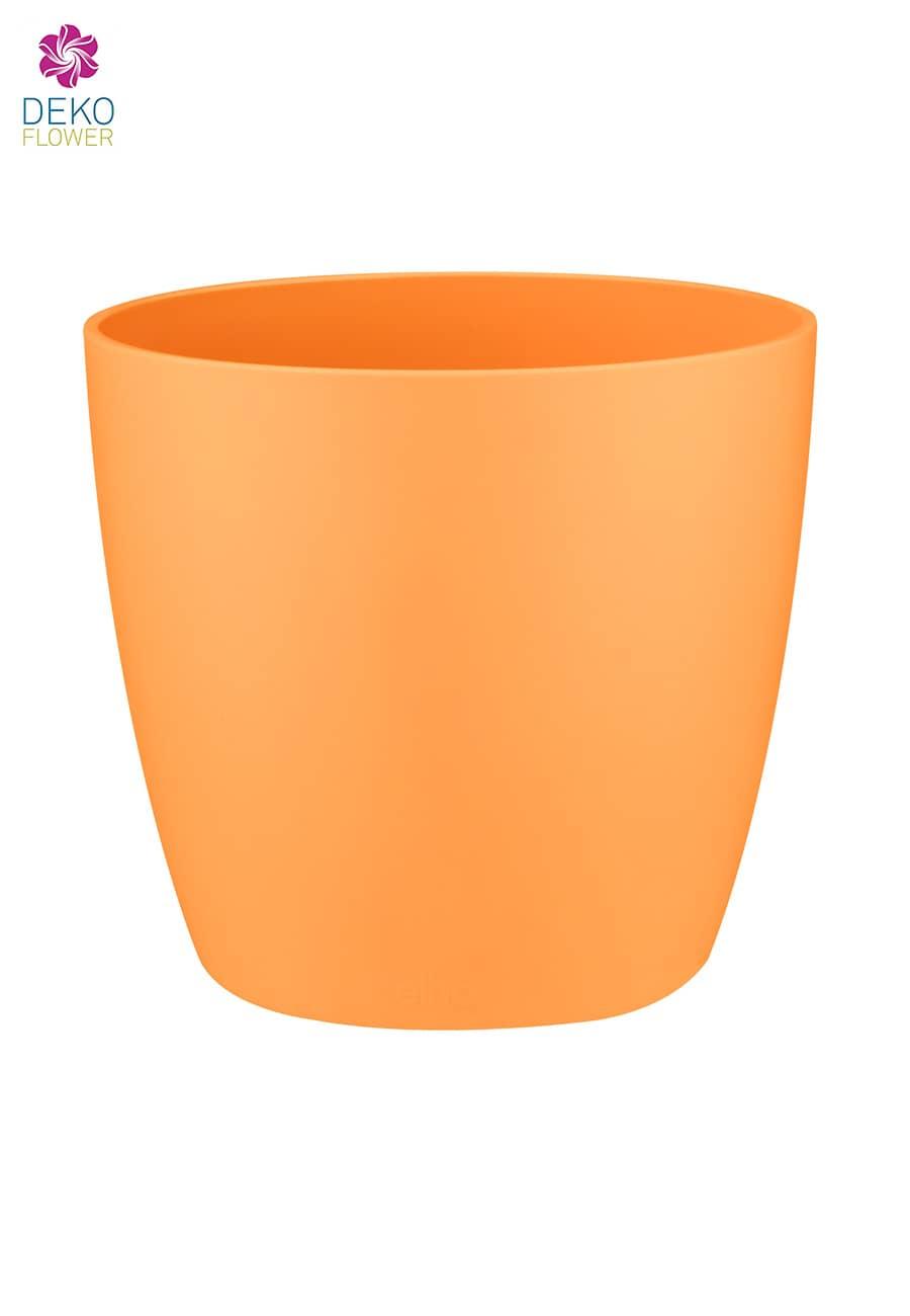 Übertopf 12.5 cm orange rund