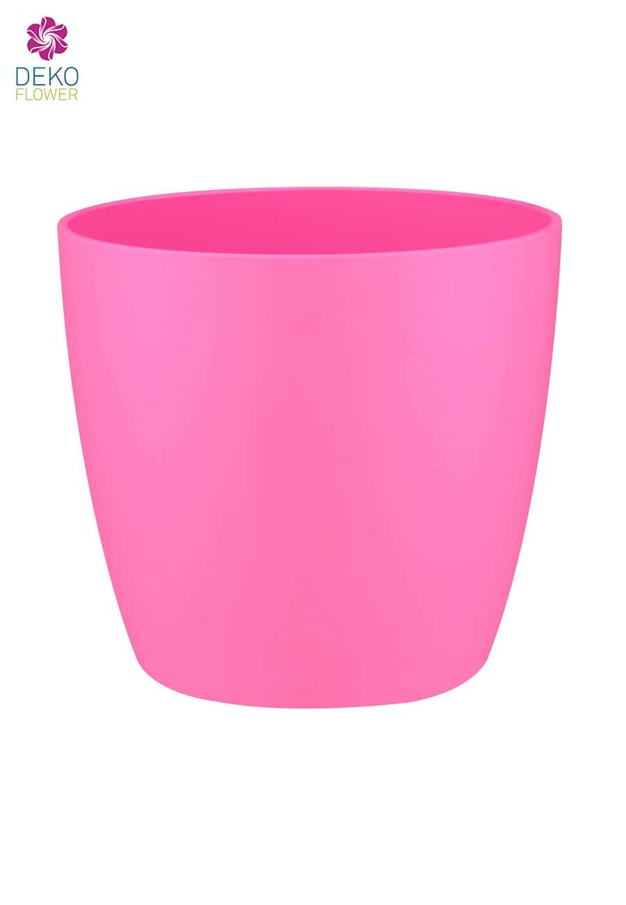 Übertopf rund pink 12.5 cm
