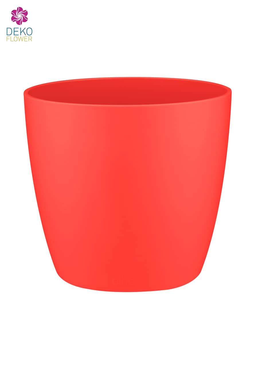 Übertopf brussels rund rot 12.5 cm