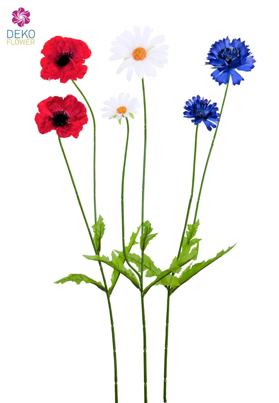 Wiesen Kunstblumen 67 cm 3er-Set