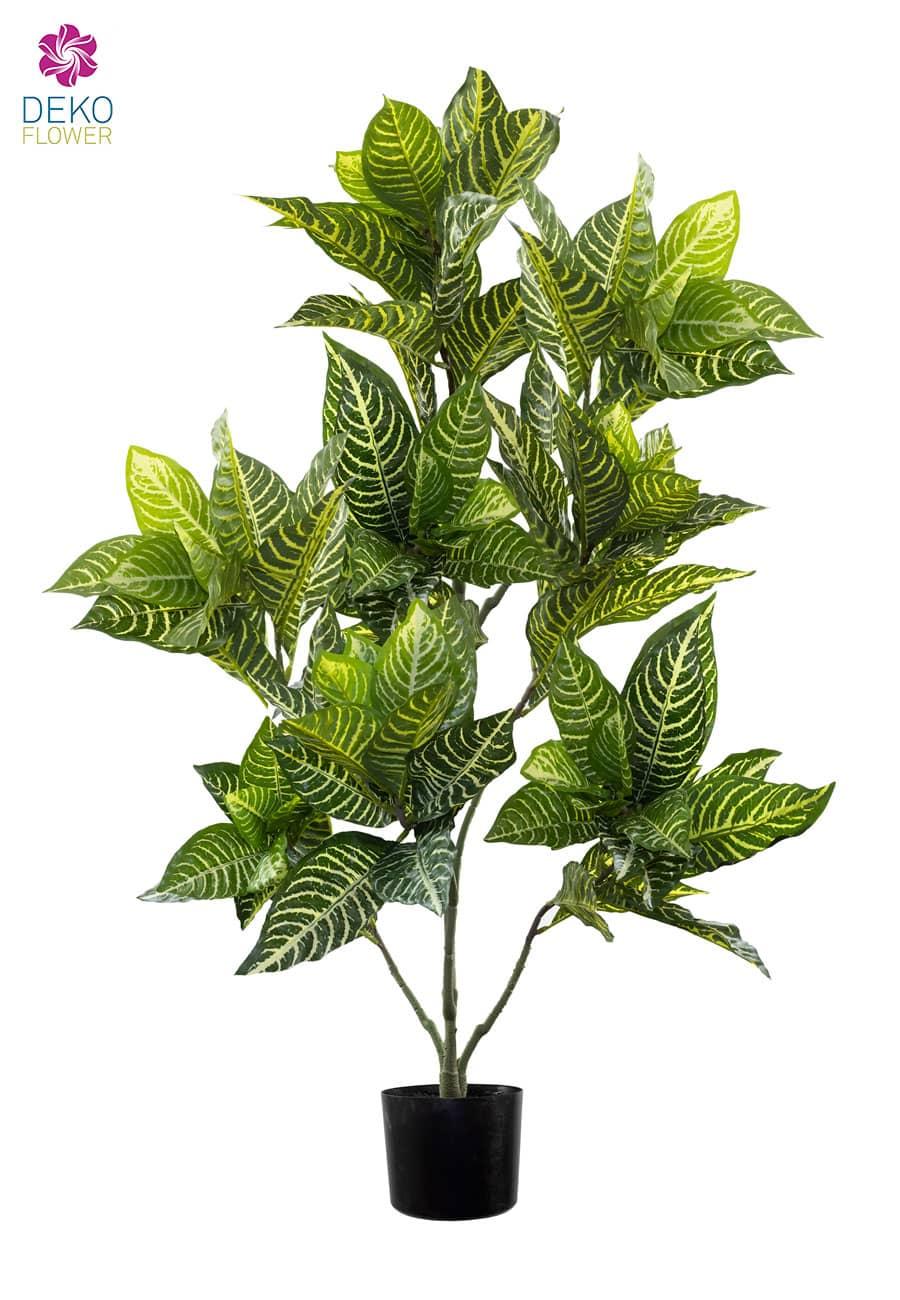 Zebra Kunstpflanze grün creme 118 cm