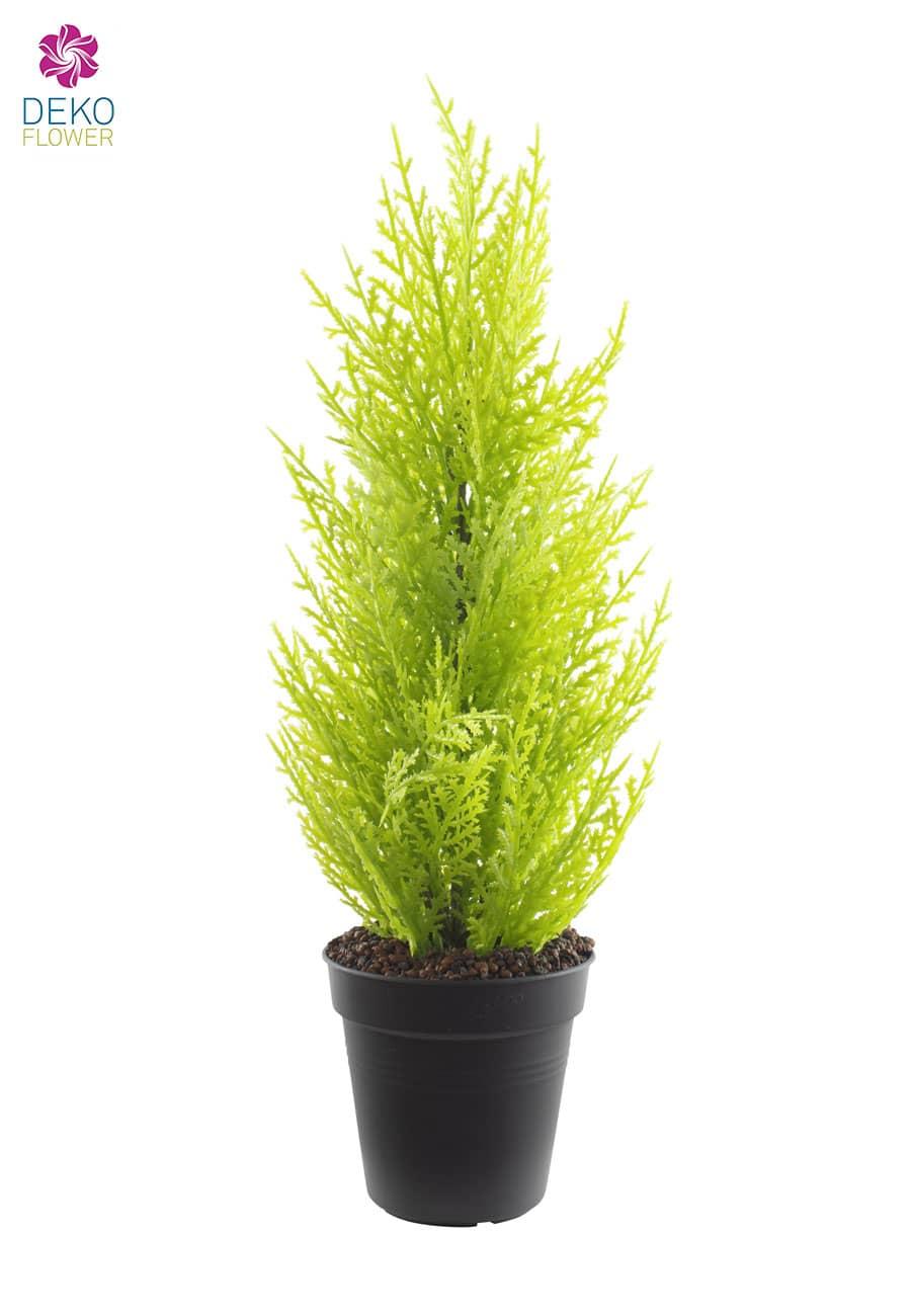 Zypresse Kunstpflanze 44 cm im Topf