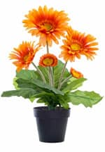 Kunstpflanze Gerbera orange 33cm